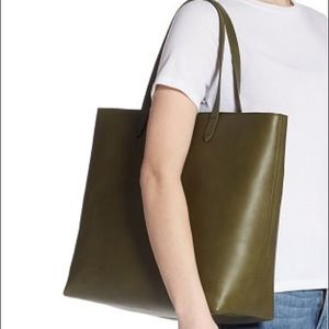 MWT🌿MADEWELL-Zip Top transport leather tote/Moss